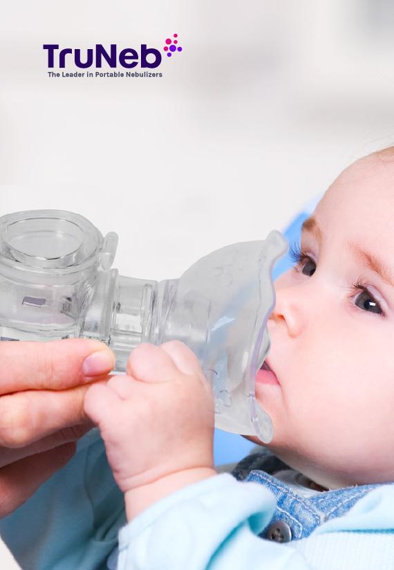 Baby using TruNeb Portable Nebulizer Machine in & near Lakeland, FL