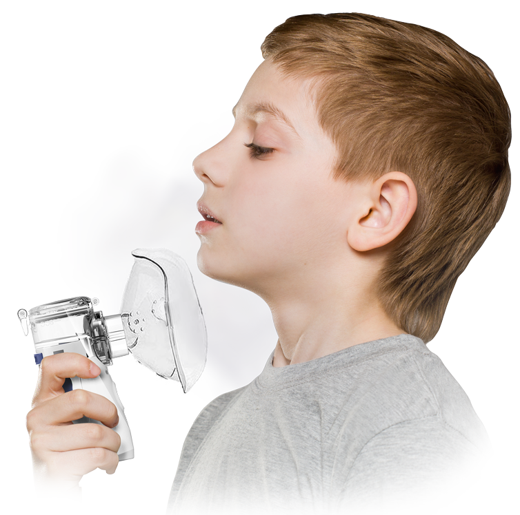 Boy using TruNeb Portable Nebulizer Machine in & near Lakeland, FL